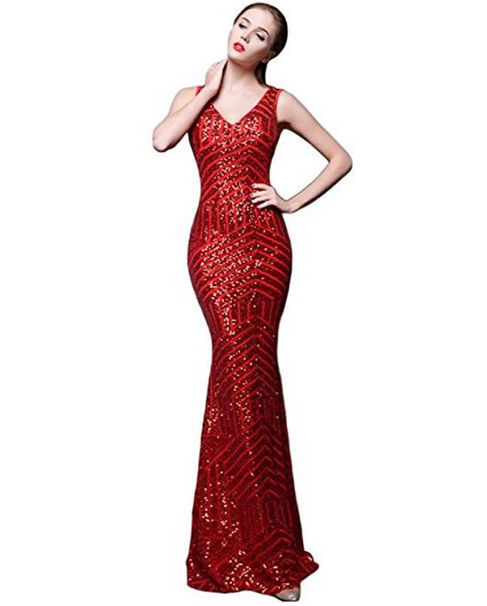Hot Selling 2017 Promotion Fashion Evening Dress Mermaid Sequined ...