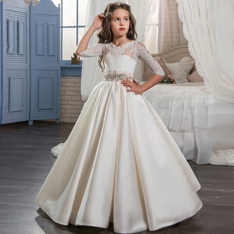 Brand New Flower Girl Dresses Half Sleeve Party Pageant Communion ...