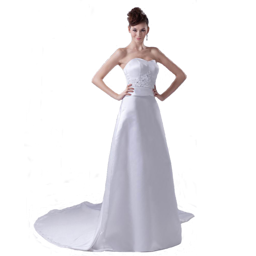 Vintage design sweetheart ladies wedding dress ivory satin a line vintage design sweetheart ladies wedding dress ivory satin a line style bridal gown with beads appliques item no wd4 398 ombrellifo Choice Image