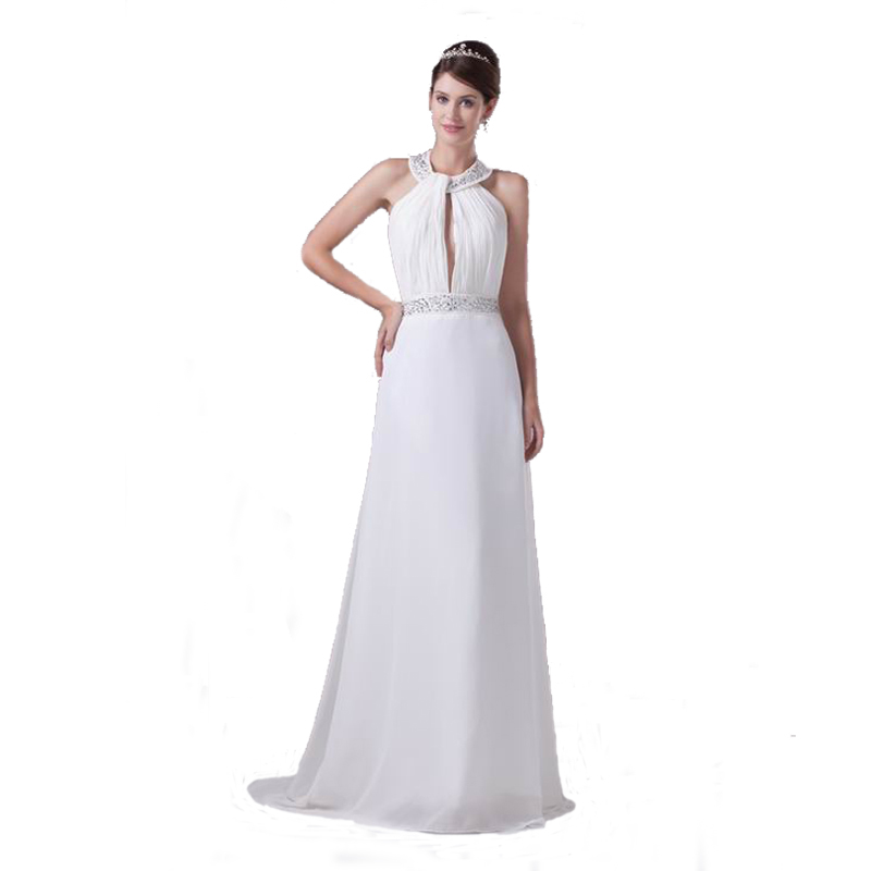 Halter a Line Wedding Dresses