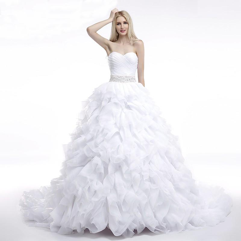 Royal Queen Wedding Dress Sweetheart Design Ball Gown Beaded ...