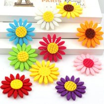 10pcs  39mm Mix Colors Handmade Sunflower Patches Felt Flower Felt Accessories for DIY Scrapbooking