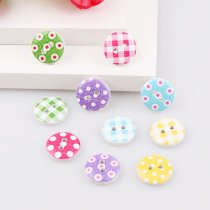 50PCS 2 holes 13mm Colorful  random  Round Wooden buttons