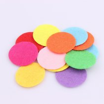 wholesale 100 PCS DIY 20/25/30mm  Mix Color Round Felt fabric Pads Accessory Patches Circle Felt Pads  Fabric Flower Accessories