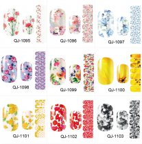 QJ1095-1108  14Tips/Pc  Nail Art stickers Flower Fairy