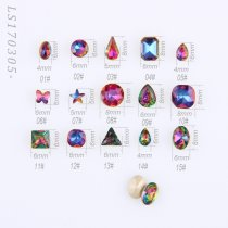 5Pcs High Quality K9 Pointback Rhinestone Purple And Blue Light Nail Art Rhinestone