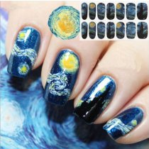 14Tips/Pc Blue Sky Nail Art Sticker
