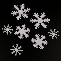 100pcs 30MM  White Mini Cute Non-woven Felt Snowflake Patch Mini Felt Snowflake Applique For Kids Accessories