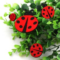 10pcs Lovely Non-woven Fabric Ladybug Patches Artificial Ladybird Applique Patches DIY Craft, Nursery Room, Kindergarten Decor