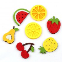 10pcs No Gule Patches For Nursery Room  Applique Embroidered Patches DIY Labels Backpack Sticker Sew Patches Fruit Cartoon