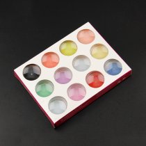 12 Colors/Set  Acrylic 3d Designe Art Coloured Carving Powder