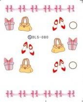 DLS-080-093 Heart Animal Transfer Nail Stickerr