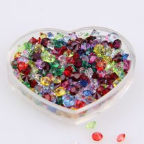 SS6/SS12/SS16 About 1440pcs Resin Mix Color Sharp Bottom Bare Nail Rhinestone
