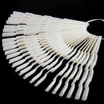50pcs/pack 13x1cm  Bamboo Design  Fan Shape  Nail Art Tips