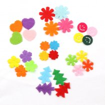 100pcs New Arrival  Snowflake Tree Smile Patchse Diy Craft Accessory Handmade Applique Patch For Clothes Hat Felt Applique