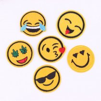 Smile Patch  1pcs Embroidery Blossom DIY Accessories
