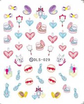 DLS-026-036  Triangle Pattern Heart Harajuku Transfer Small Sheet Stickers