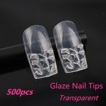 500pcs/pack 10 Sizes  Glaze Nail Art Tips Full Nail False