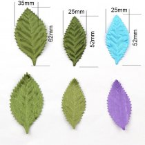 50pcs Colorful Lovely Non-woven Fabric Leaf Patches Artificial leaf Applique Patches DIY Craft, Nursery Room, Kindergarten Decor