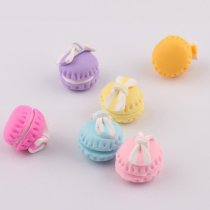 15*12mm 10pcs  Lovely Macaron Fimo plating enamel fridge refrigerator magnets three-dimensional hand crafts for Keychain Pendant