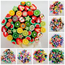 50pcs 5cmMulity Style Fimo Canes 3D Nail Art Decoration PolymerClay Fruit Fimo Rods For Nail DIY Design Beauty