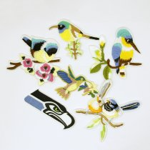 1PCS Mulity Style ,Colorful  Birds Patch Embroidery Iron On Patches For Clothes Dresses DIY Accessory