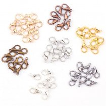 50Pieces  12x6mm  Lobster Clasps Hook Component