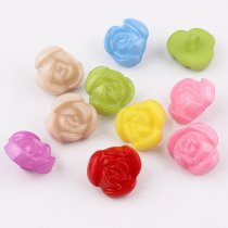 100pcs 12*14mm Mix color Plastic Buttons Resin  Flower