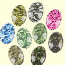 Glass Mix Size Oval Mixed camouflage Flatback Cameo Cabochon