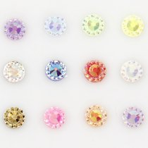 About 500pcs 6mm Nail Resin Rhinestone Nail Art Sun Flower Decoration