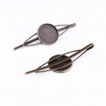 wholesale 15/18/20mm 5pcs High Quality Bronze Plated Copper Material Hairpin Hair Clips Hairpin Base Setting Cabochon Cameo