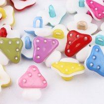 100 pcs Mushroom plastic Buttons Mixed  Accessories
