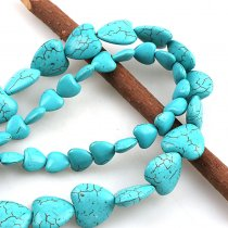 wholesale Manmade Stone Sky Blue Turquoises Howlite Love Heart Loose Spacer Seed Stones Beads DIY Bracelets Necklace Jewelry Findings