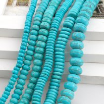 Manmade Stone Sky Blue Turquoises Howlite Beads Abacus Loose Spacer Seed Stones Beads DIY Bracelets Necklace Jewelry Findings