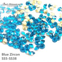 Blue Zircon Color Point Back Rhinestones