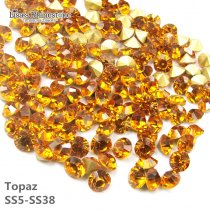 Topaz Color Point Back Rhinestones