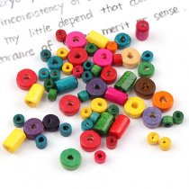 50G Cylinder Oval Tube Wood Spacer Beads