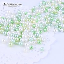 20gram  Mix Color  Mix Size  No Holes Round Imitation Plastic Pearl Beads