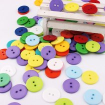 100pcs 11mm Round Resin Mini Tiny Buttons DIY decoration
