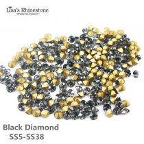 Black Diamond Color Point Back Rhinestones