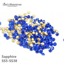 Sapphire Dark Blue Color Point Back Rhinestones