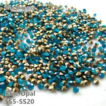 SS5-SS20 Blue Opal  Point Back Rhinestones