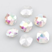 wholesale  Classicial Fat Square Pointback Rhinestone Beads Crystal Clear AB Glass Fancy Stone DIY Wedding Dress Jewelry Making