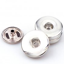 wholesale  New High Quality Silver 10Sets 2 Parts 19mm Metal copper Snap Fasteners Press Buttons Sewing DIY Leather Craft Clothes Bags