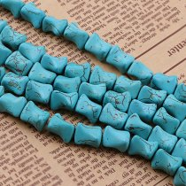 wholesale Manmade Stone Sky Blue Turquoises Howlite Irregular Loose Spacer Seed Stones Beads DIY Bracelets Necklace Jewelry Findings