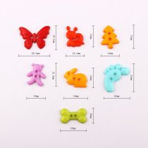 100pcs Mixed Color  Mulity Plastic Baby Button