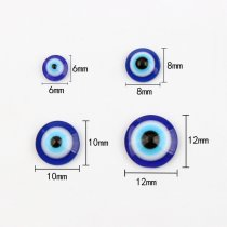 wholesale New Handcraft Department Round Flatback Dark Blue Evil Eye Resin Cabochon Beads Beads DIY Bracelet Accessory jewelry Findings