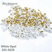SS5-SS20  White Opal  Point Back Rhinestones
