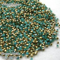 SS5-SS20 Green Opal  Point Back Rhinestones