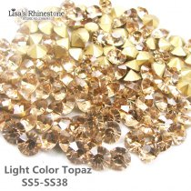 Light Color Topaz Point Back Rhinestones